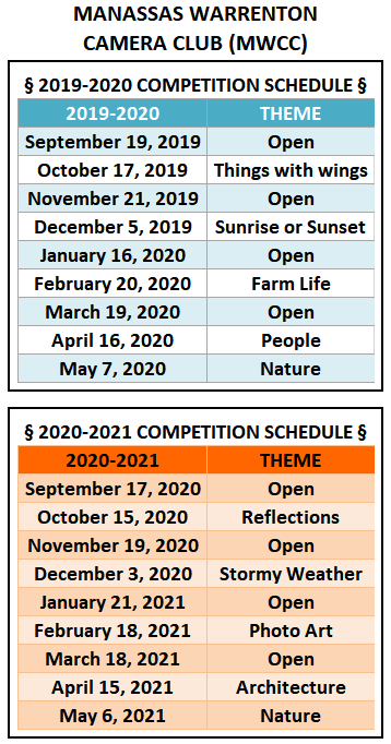 MWCC Competition Themes for 2019-2020-2021